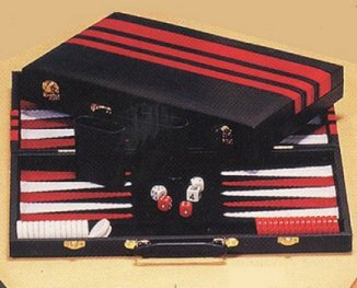 Black & Red, Vinyl Medium Size Backgammon Set