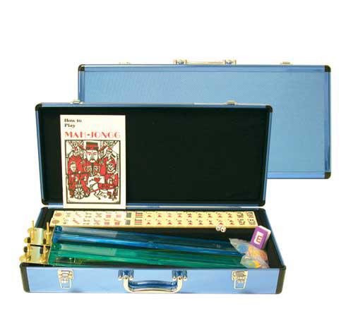 Deluxe Blue Aluminum Western Mah Jong Game