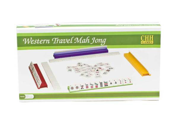 Alligator Skin & Red Interior Mah Jong Game Set Travel Case