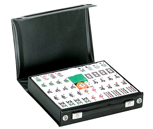 Black Case Chinese Mah Jong Set