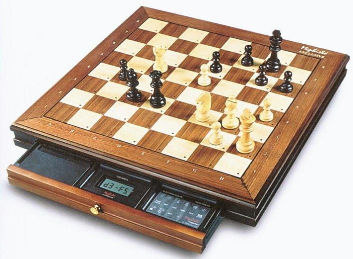 Play chess with the saitek mephisto exclusive kasparov chess computer
