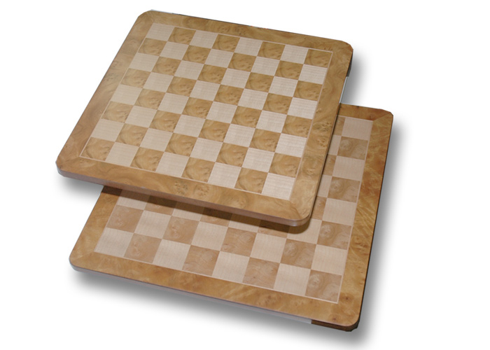Brown & Natural Fancy  Wood Chessboard