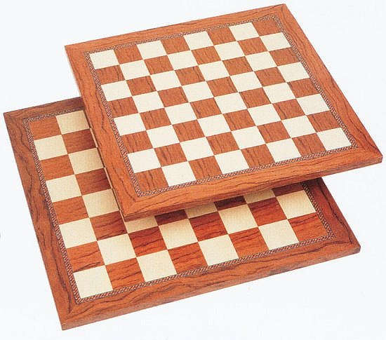 Fancy Brown & Natural Chess Board.