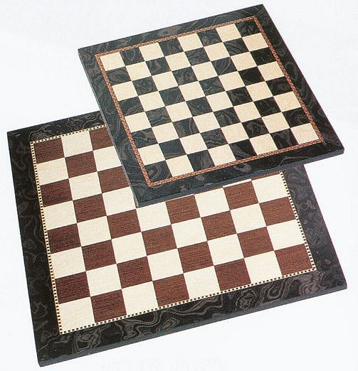Fancy Black Natural Chess Board