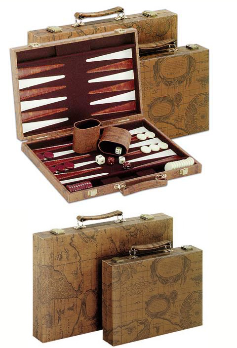 Deluxe Size  Brown Backgammon Set