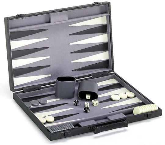 Professional Size Backgammon Set with a Modern Motif
