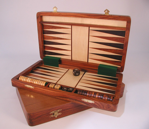 Sheesham Wood Backgammon Set
