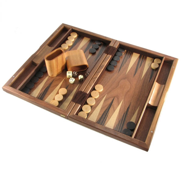 Walnut Wood Backgammon Set