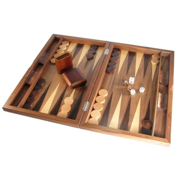 Walnut Backgamon Set
