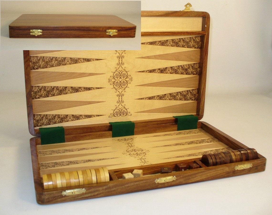 22 Quot Unique Wood Backgammon Set