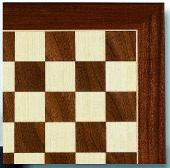 "16"" Sycamore & Walnut Wood Chess Board."