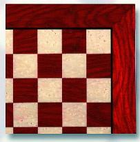 "20"" Gold Leaf Chess Board"