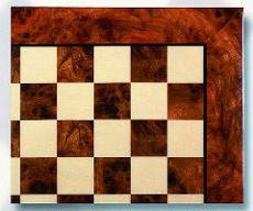 Exotic Elm Root Wood Chess Board