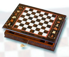 Cabinet Chessboard With Artistic Design.