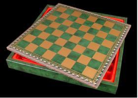Green Leatherette Cabinet Board