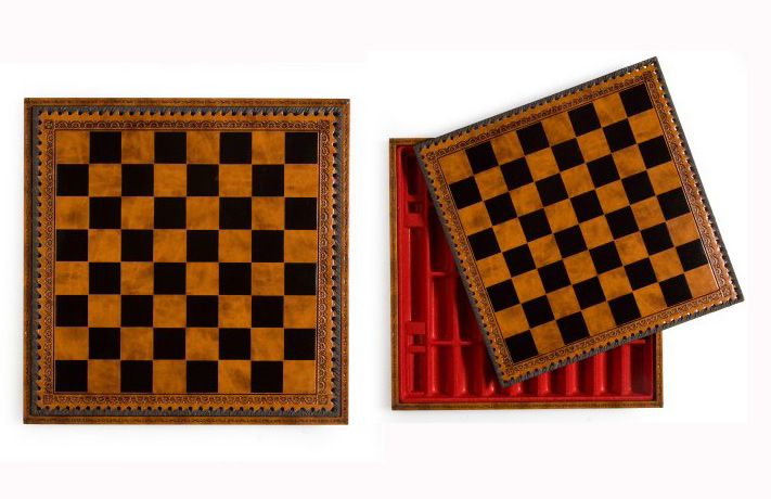 Italian Leatherette Chess Board
