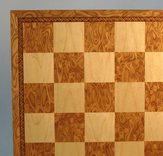 Camphor & Maple Chessboard With Border Inlay