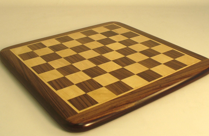 Rosewood & Maple Chessboard With Rounded Corners
