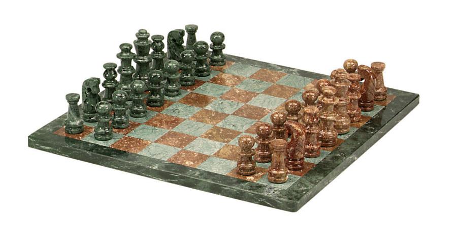 Brazilian marble jade crimson chess set - Granite chess set ...