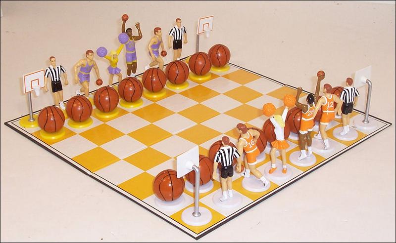 Basketball Sport Themed Chess Set
