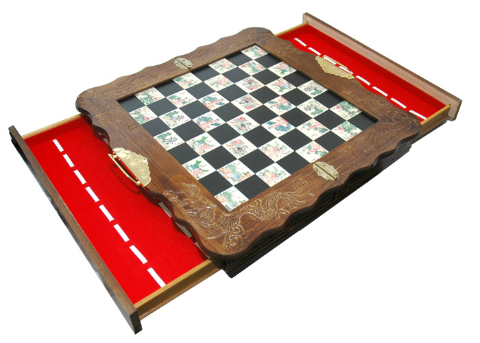 Asian Emperor S Court Themed Chess Set
