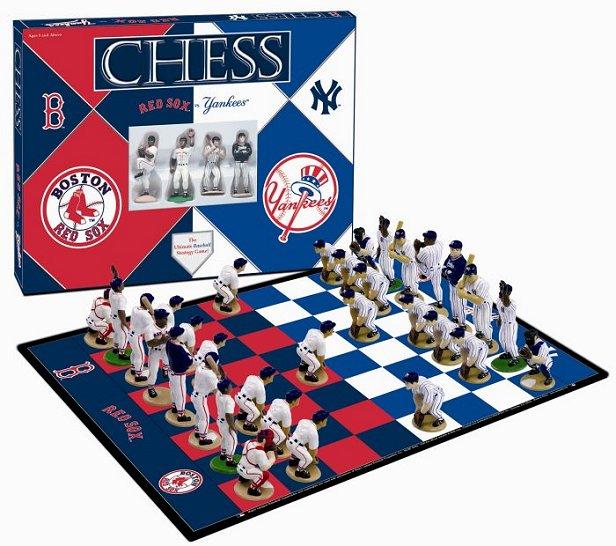 Boston Red Sox vs New York Yankees Baseball Chess Set