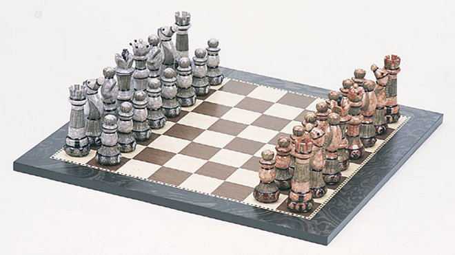 Deluxe faux marble chess set - Deluxe chess sets ...