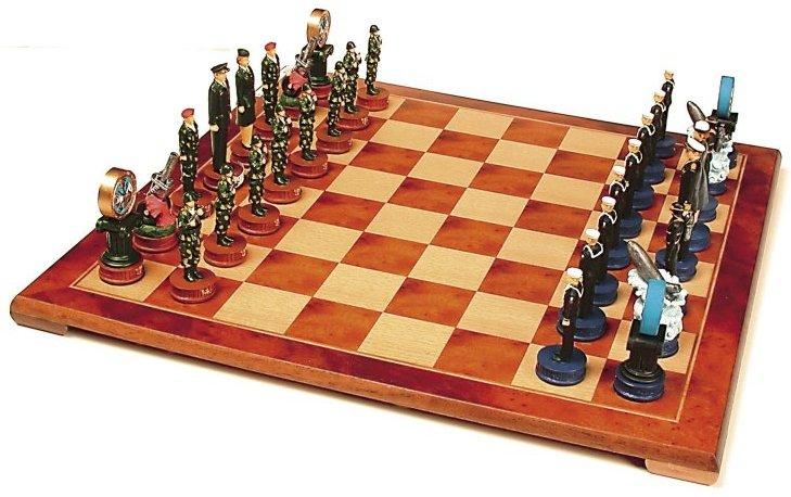 Army vs navy chess set chess board set up