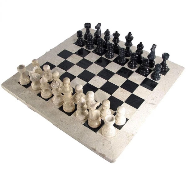 European Marble Chess Set with Botiano Border
