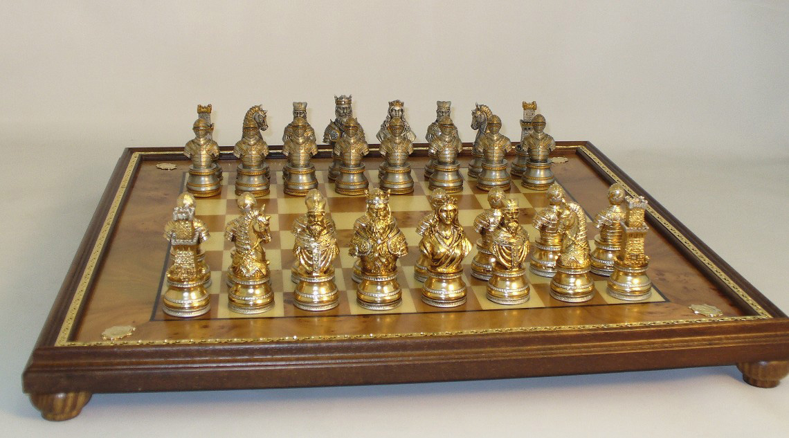Camelot pewter chess set - Ornate chess sets ...