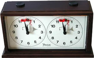 Dark INSA European  Mechanical Chess Clock.