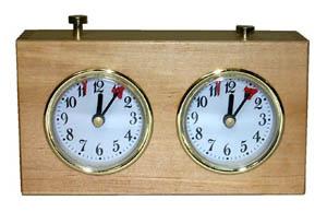 Mechanical Wooden Chess Clock.