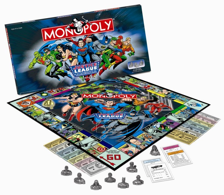 Justice League of America Monopoly Game Collector's Edition