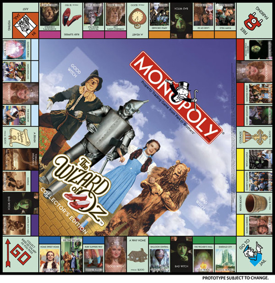 2008 Wizard of Oz Monopoly Game
