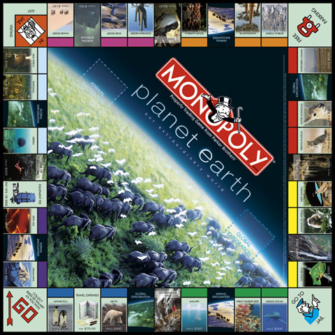 Discovery Planet Earth Monopoly Game Collector's Edition.