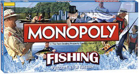 2009 Collectors Edition Fishing Monopoly Game.