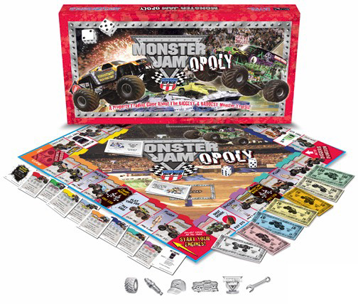 Monster Jam Fleet Truck Opoly Board Game