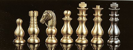 Classic Staunton  French Brass Chess Pieces