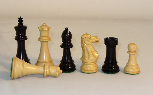 Imperial Ebony & Boxwood Chess Pieces