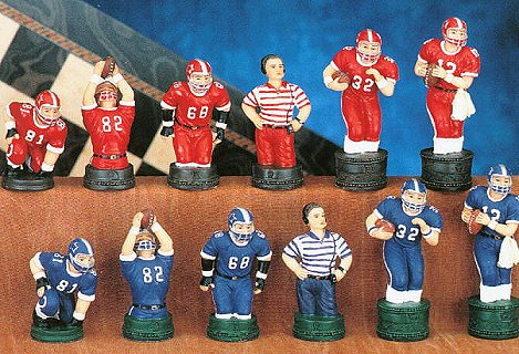 Hand Painted American Football Chess Pieces