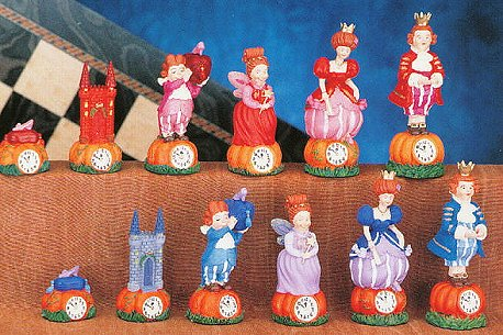 Disney's Cinderella Hand Painted Chess Pieces