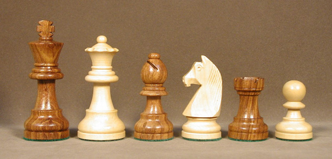 3.75 German Knight Single Weighted Sheesham Wood Chess Pieces.