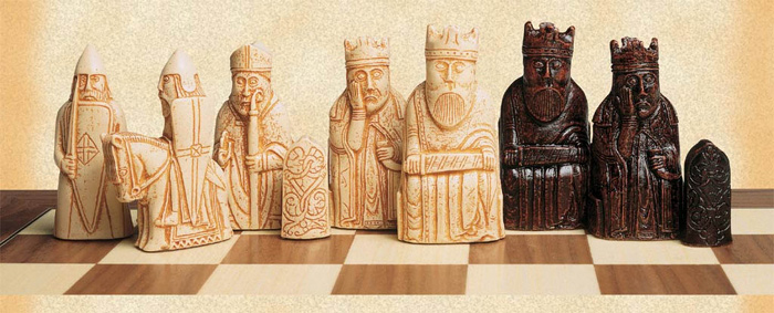 Anne Carlton Isle of Lewis Crushed Stone Chess Pieces