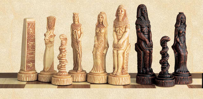 Ancient Egyptian Gods Chess Pieces