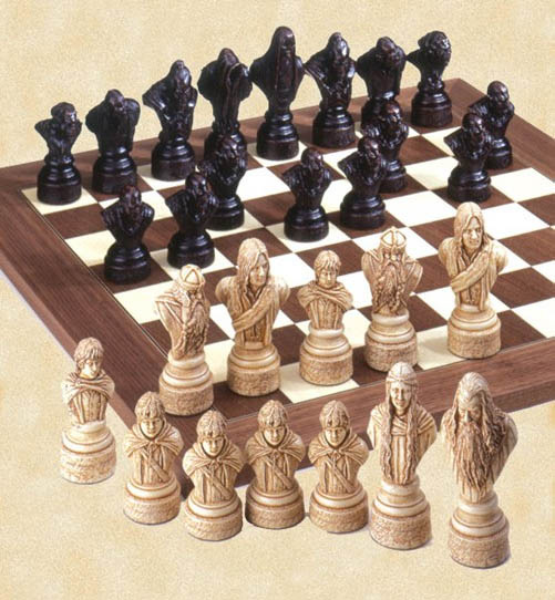 Polyresin Lord of The Rings Chessmen Pieces