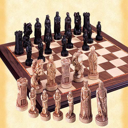 The Battle of Bannockburn Chessmen Set.