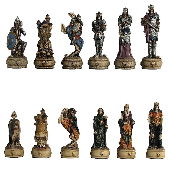 Polyresin skeleton warrior chess pieces - The chessmen chess set ...