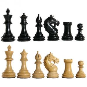 Ebonized Centurion MoV Chessmen Set