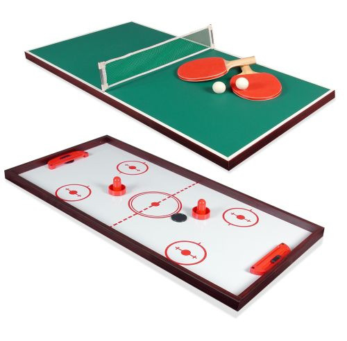 Double Sided Table Top with Ping Pong & Knock Pusher Hockey