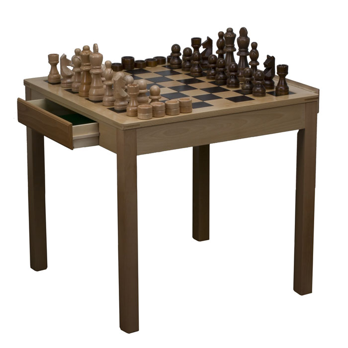 Giant Indoor Outdoor Chess Set With Table And Storage Drawer